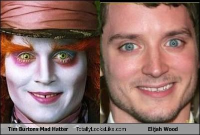 alice in wonderland director elijah wood Johnny Depp mad hatter tim burton - 3034037248