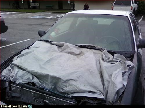 car,fire hazard,mod,tarp