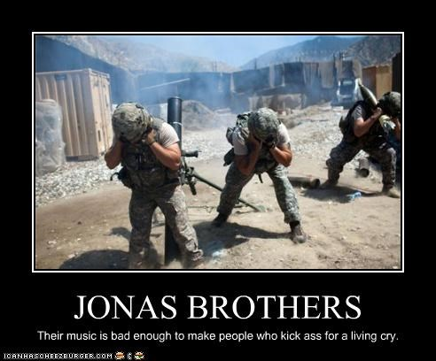 jonas brothers,military,Music,soliders