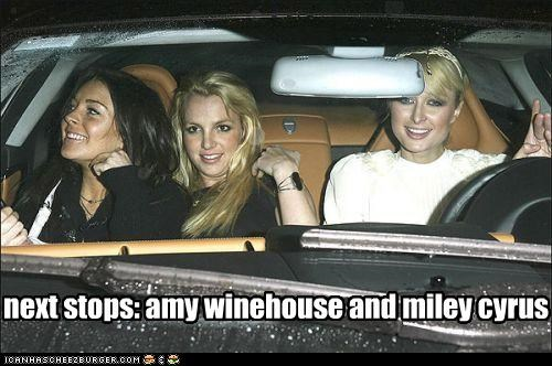 amy winehouse britney spears drugslots-and-lots-of-drugs famous for no reason lindsay lohan miley cyrus paris hilton white trash with cash - 3035555584