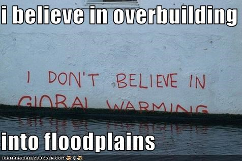 flooding,global warming,grafitti,irony
