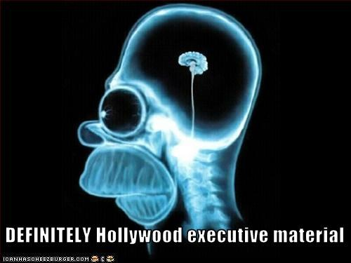 animation brains hollywood executives homer simpson stupidity the simpsons - 3036977152