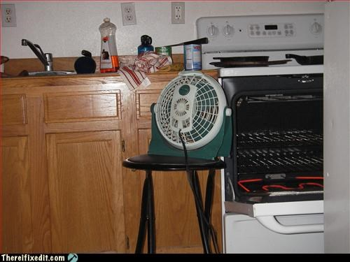 fan,heater,ingenuity,Mission Improbable,oven