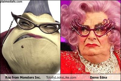 animation,dame edna,drag,monsters inc,movies,pixar,roz