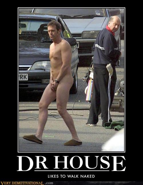 dr-house,hilarious,hugh laurie,not clothed,slippers,walk
