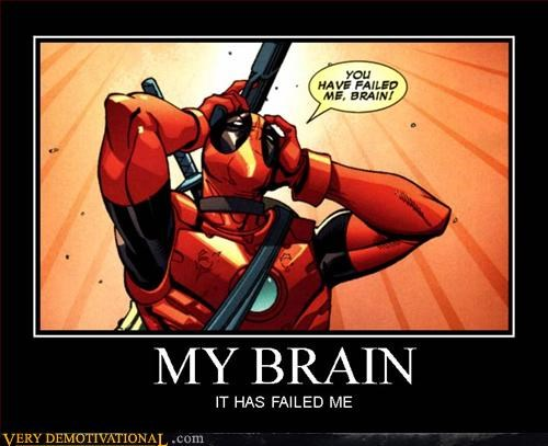 brains deadpool hilarious - 3045125376