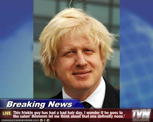 Breaking News This Friekin Guy Has Had A Bad Hair Day I Wonder If