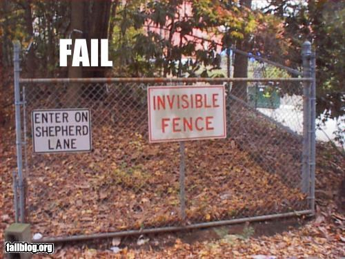 failboat fences g rated invisible outdoors signs - 3046438400