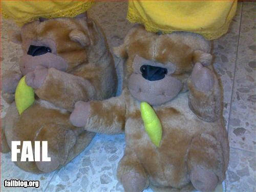 animals bananas failboat gorillas slippers Things That Are Doing It - 3051386624