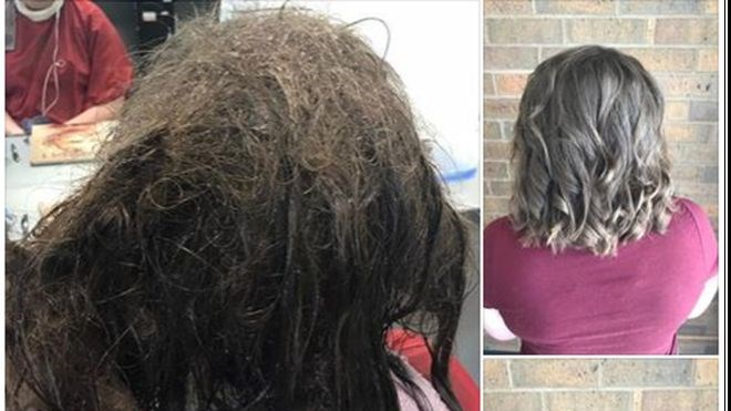 an amazing photo of a transformation of a girl who is seen to not have combed her hair out in a very long time and now her hair is all knotted and on the other picture its the same girl but transformed - cover so a story about dealing with depression
