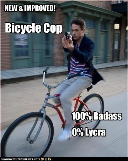 NEW & IMPROVED! Bicycle Cop 100% Badass 0% Lycra