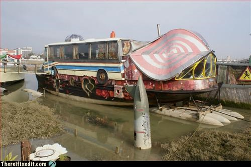 boat,bus,not sea worthy,wtf