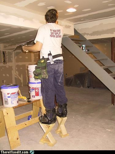 construction homemade paint stilts - 3055784704