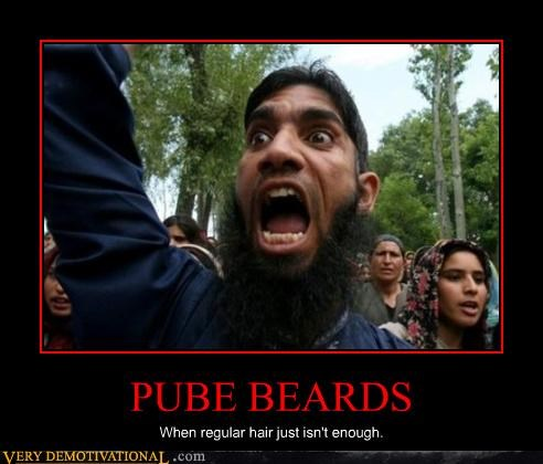 PUBE BEARDS When regular hair just isn't enough.