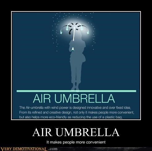 AIR UMBRELLA It makes people more convenient