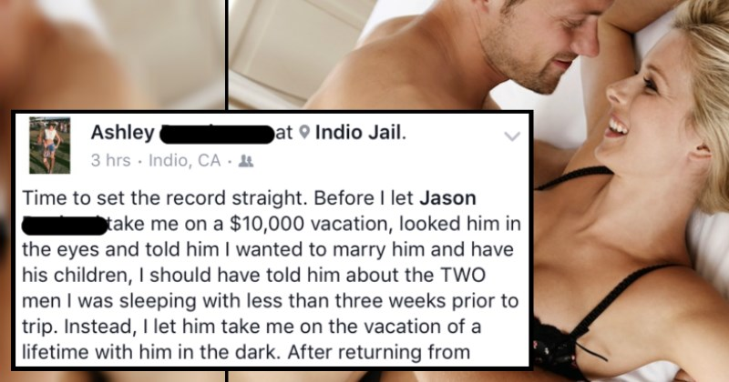 Angry boyfriend hacks into his cheating girlfriend's Facebook to put her on blast.