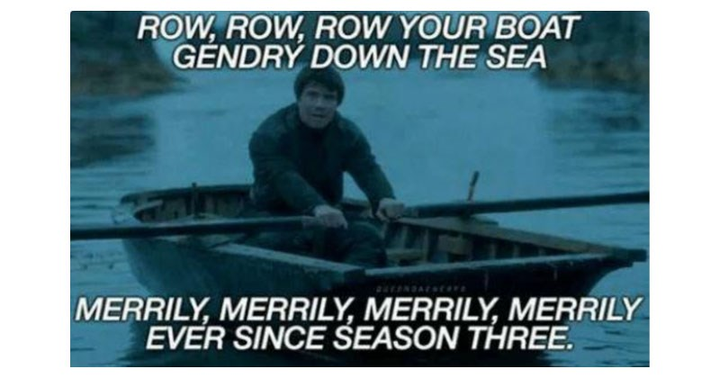 Funny memes about Gendry rowing on Game of Thrones.