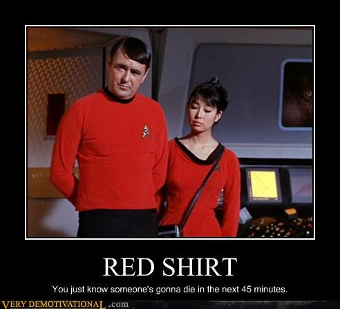 red shirt uh oh Star Trek