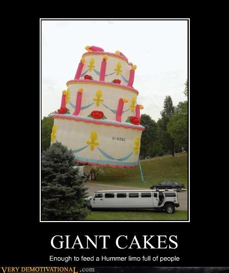 GIANT CAKES Enough to feed a Hummer limo full of people