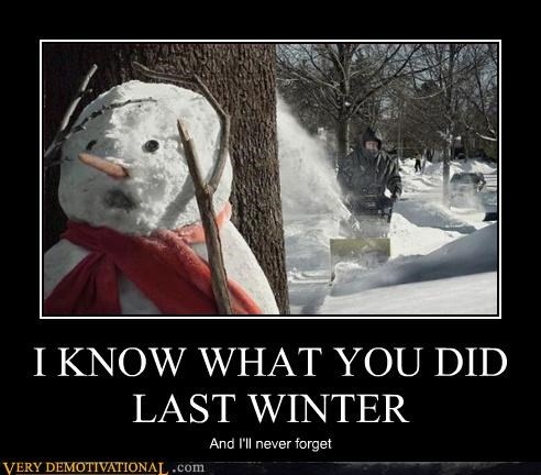 horror scary snowblower snowman