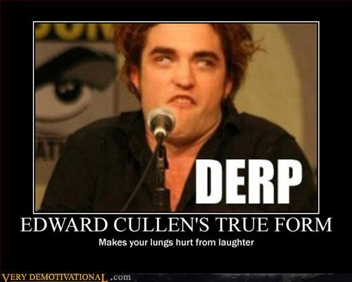 derp derping edward cullen Hall of Fame hilarious sucks twilight - 3063794688
