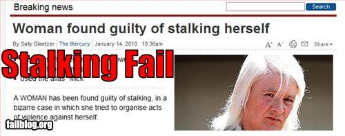 g rated,guilty,Police Blotter,self,stalking,woman