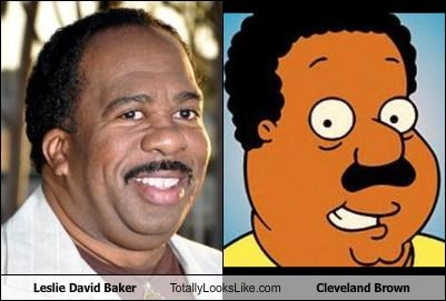 Leslie David Baker Totally Looks Like Cleveland Brown