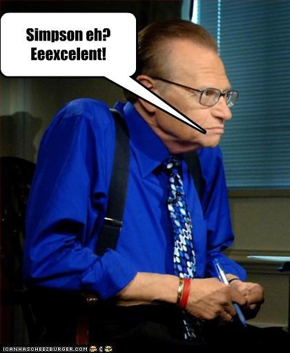 host interviews Larry King the simpsons - 3067462656