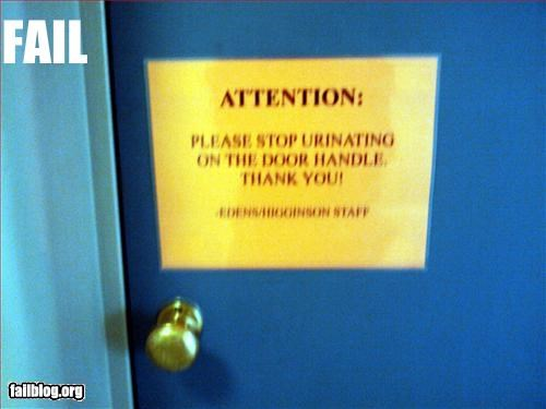 attention door g rated handles pee please signs stop thank you urinating - 3067489792