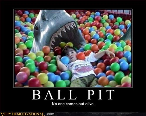 ball pit FAIL Pure Awesome shark - 3067753216