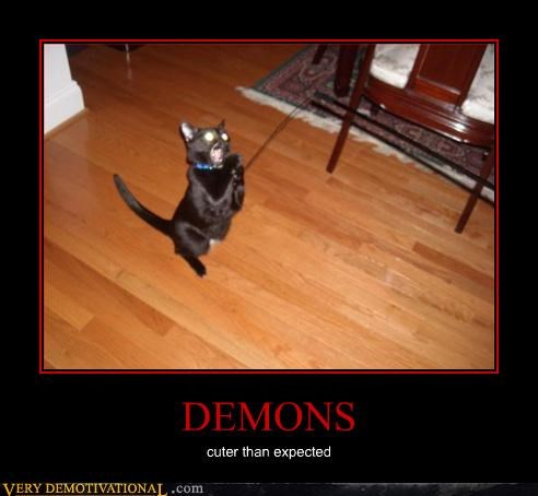 cat cute demon