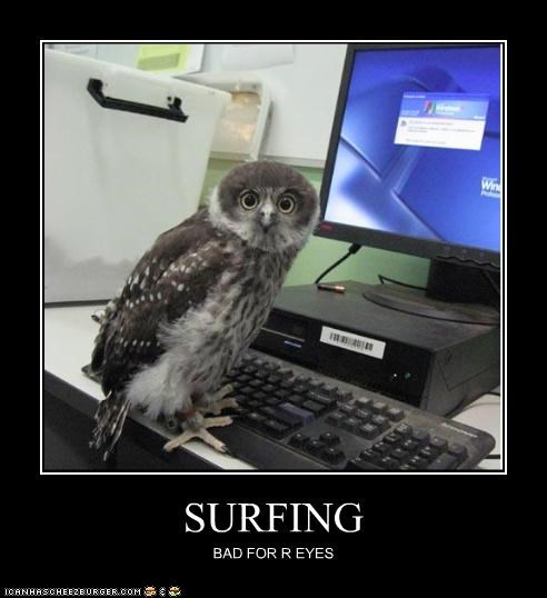 SURFING BAD FOR R EYES