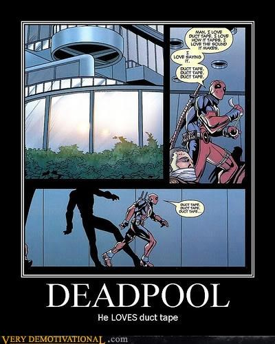 deadpool,ductape,hilarious,love