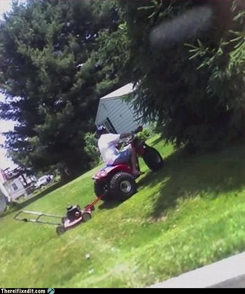 facepalm,lawn mower,lazy,srsly