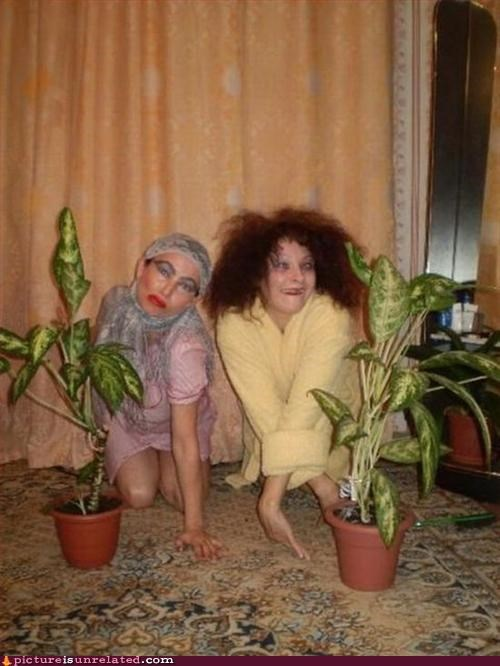 creepy,ladies,plants,wtf
