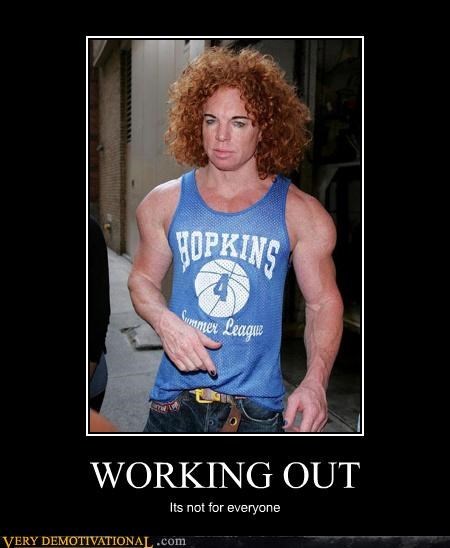 creepy carrot top working out