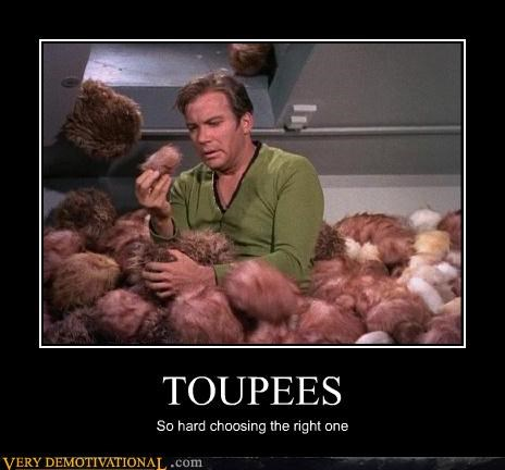 Captain Kirk toupee Star Trek - 3071352576