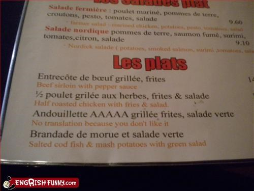 food french g rated menu no restaurant translate translation - 3074307328