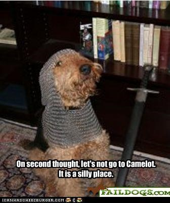 On second thought, let's not go to Camelot. It is a silly place.