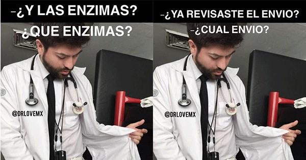 memes del doctor tocandose