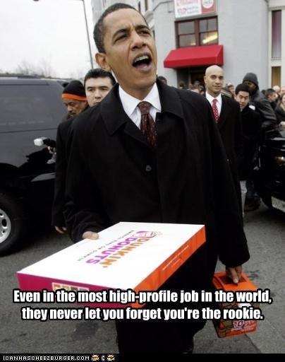 barack obama,democrats,dunkin donuts,president,rookie