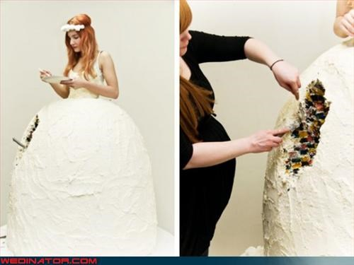 avant garde bride wedding cake Crazy Brides crazy dress Dreamcake eww fashion is my passion tasty wtf - 3083427072