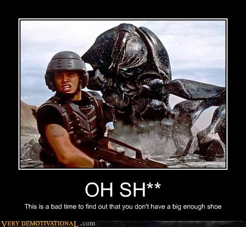 bug,starship troopers,shoe