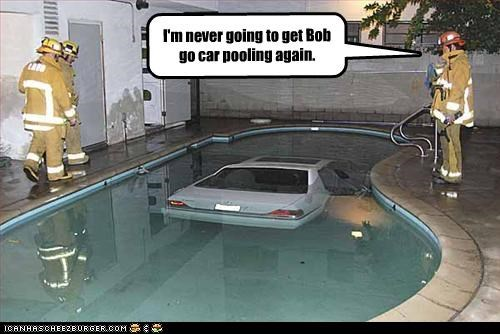 I'm never going to get Bob go car pooling again.