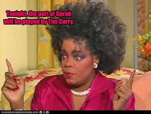 80s bad hair Oprah Winfrey talk shows tim curry - 3085335296