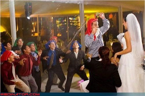 crazy groom eww frat boys Groomsmen gross So Many Questions surprise water wedding party wtf - 3087086848