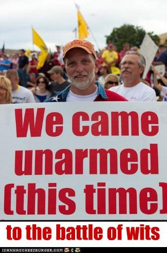 armed guns protesters teabaggers