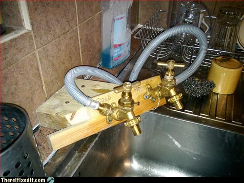 kitchen sink Steampunk wood