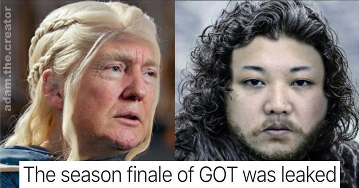 Collection of funny Instagram memes from user adam.the.creator, donald trump, eminem, game of thrones, guy fieri, politics.