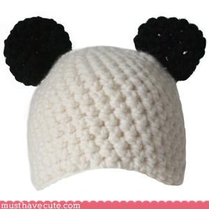 adorable animal hat Knitted panda - 3089860608